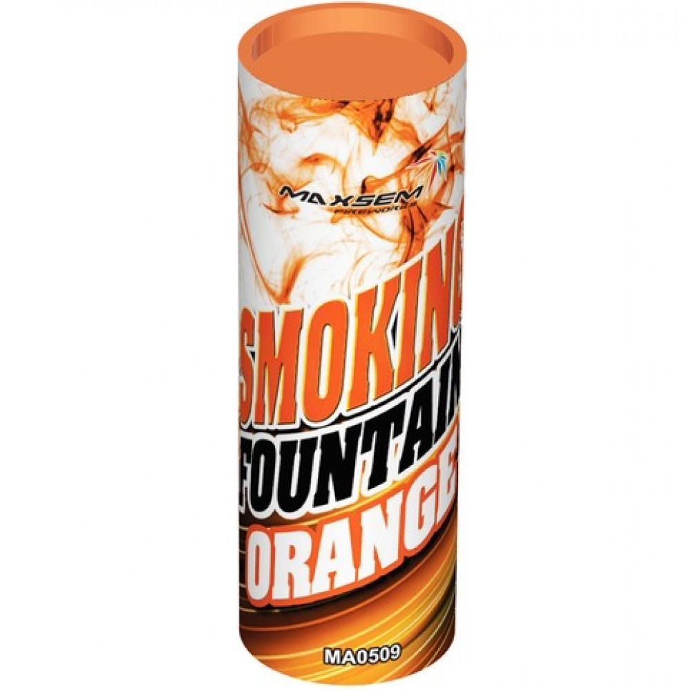 Цветной дым оранжевого цвета (Maxsem 45 сек.)