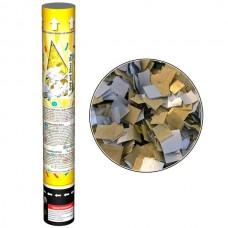 Пневмохлопушка 30 см (Золото/Серебро)
