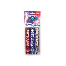Цветной дым набор (красный,белый,синий)  Мегапир (45секунд)